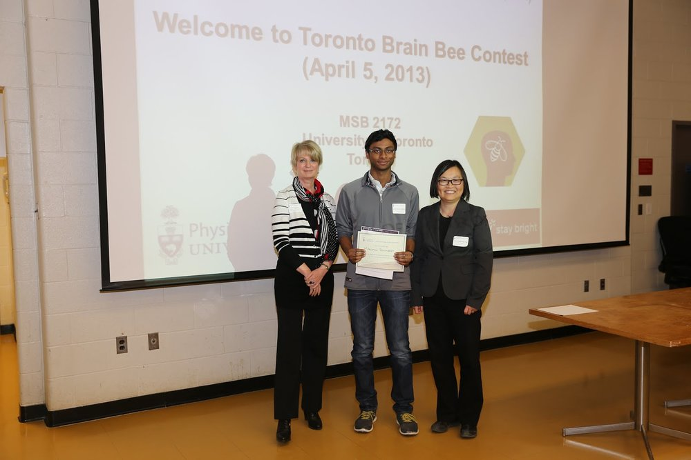 2013 Brain Bee ~ Second Place