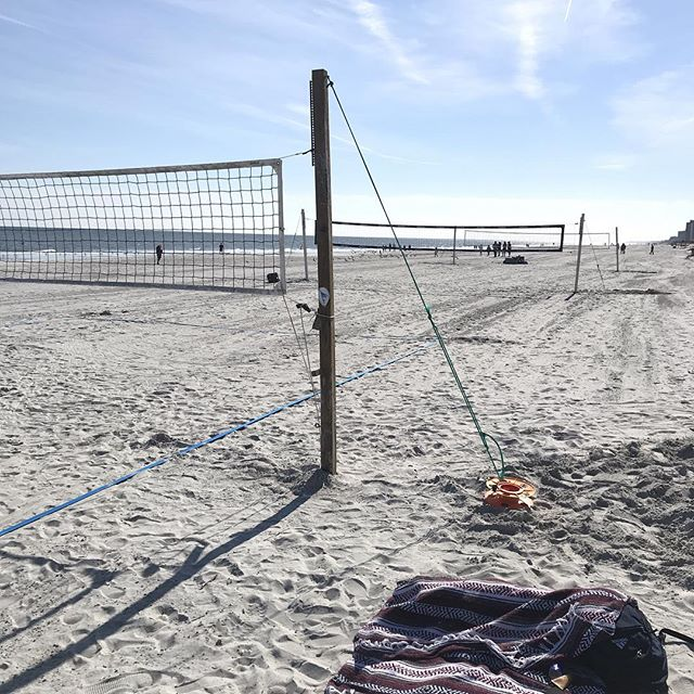 Courts are ready for some xmas eve volleyball on the recently renourished beach! #beachvolleball #jbvb #jaxbeachvb #letsgoooo #merrychristmaseve