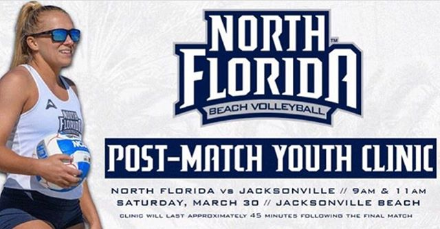 Come out and support your local #ladyospreys as the host #JU on our very own Jacksonville Beaches this Saturday at 9am and 11am!!! 🚨🚨🚨free post match clinic and first 100 fans get a free tank top!!! It doesn't get any better!!! #swoop #swoopfamily #volleyball #beachvolleyball #freevolleyballclinic #beachvb #jaxbeachvb #jacksonvillebeach #jbvb @unf_beachvb @jacksonvillescene @jax_volleyball