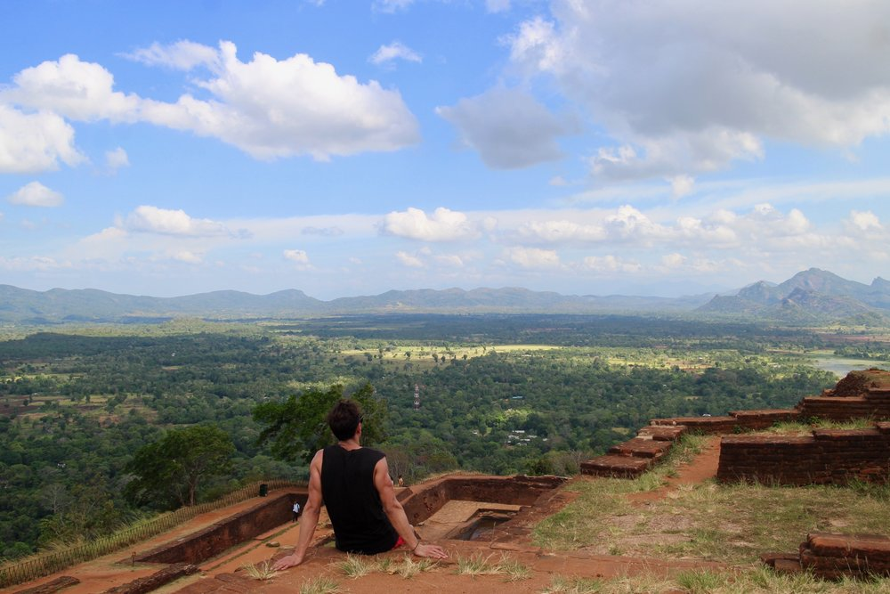 Atop Sigiriya looking South East. Incredible huh?