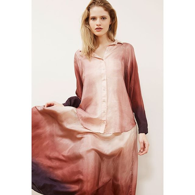 Dip dye Silk Shirt #shirtobsession #instore #softcolours #wearallyear #weloveit 20% off this week only #wecanpost