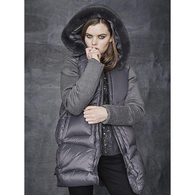 Snuggle up #down coat #soft grey #fur hood #winterstyle# #instorenow #reduced #salcombe #wecanpost