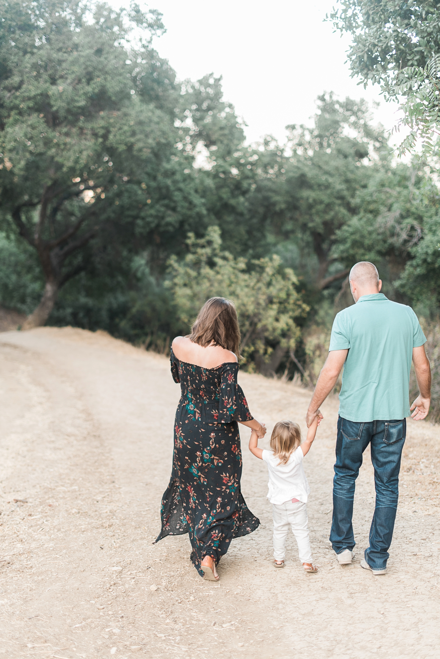 Los Angeles Griffith Park Maternity Photos Family Walking