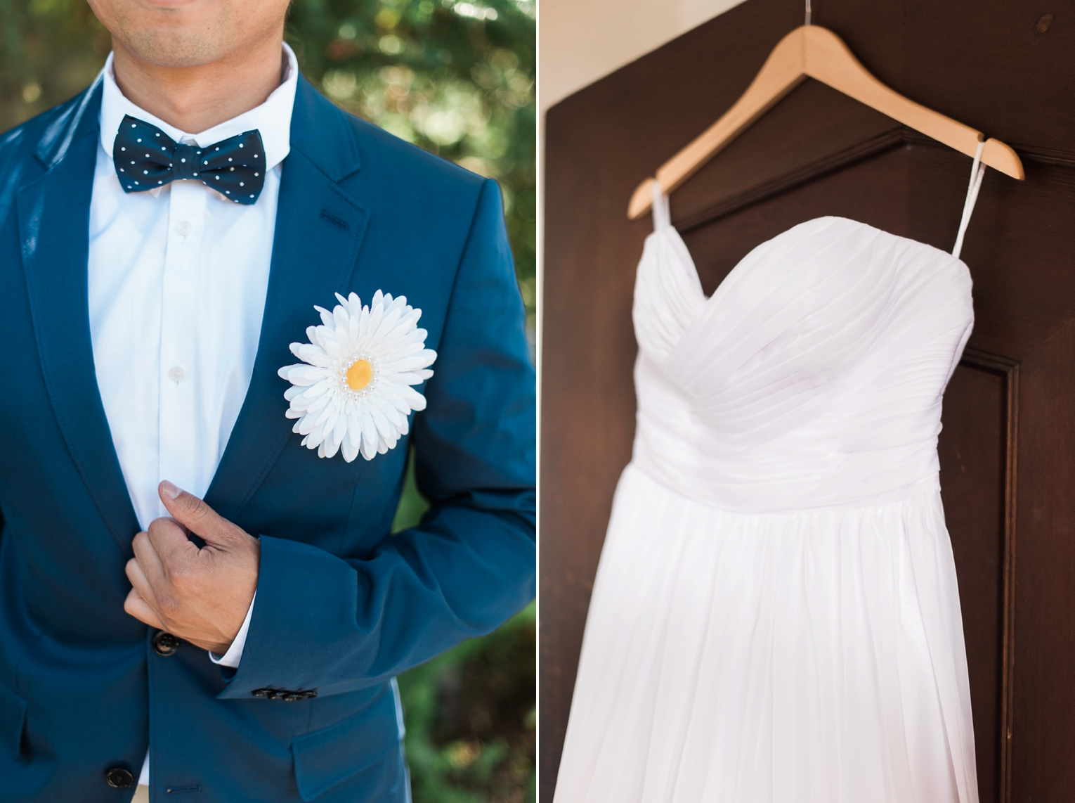 Wayfarers Chapel Wedding Photos Suit and Dress