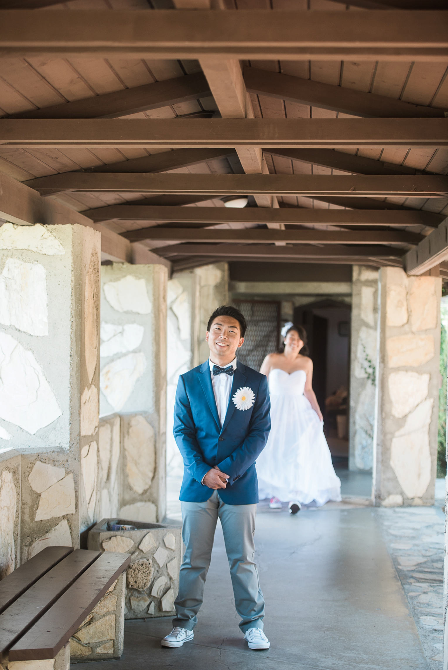 Wayfarers Chapel Wedding Photos First Look
