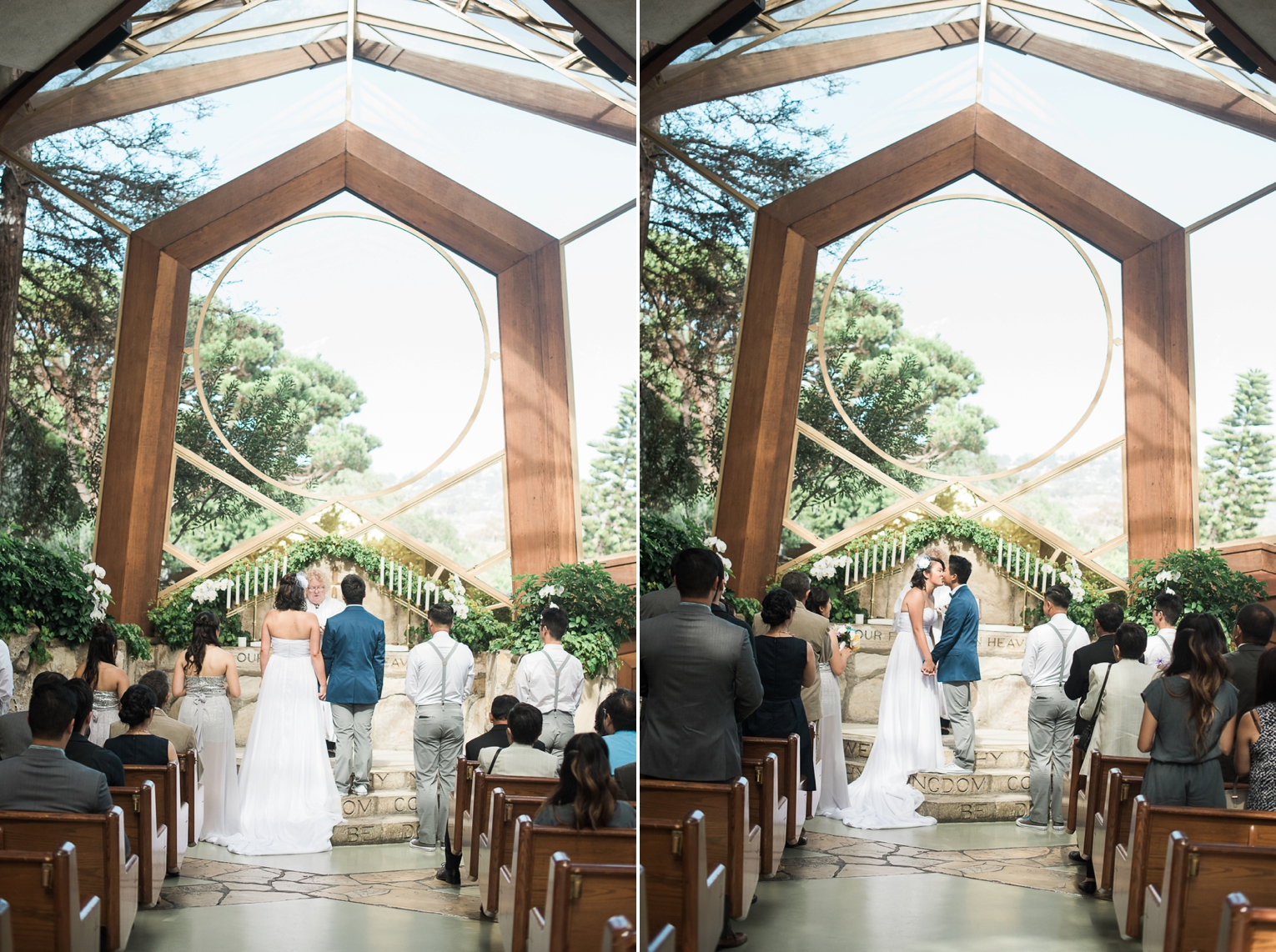Wayfarers Chapel Wedding Photos Glass Chapel