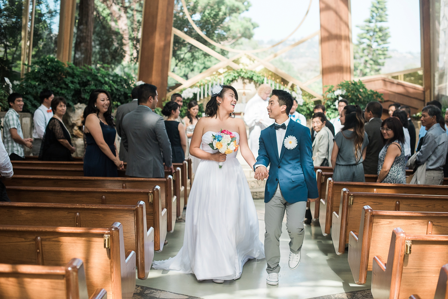Wayfarers Chapel Wedding Photos Processional