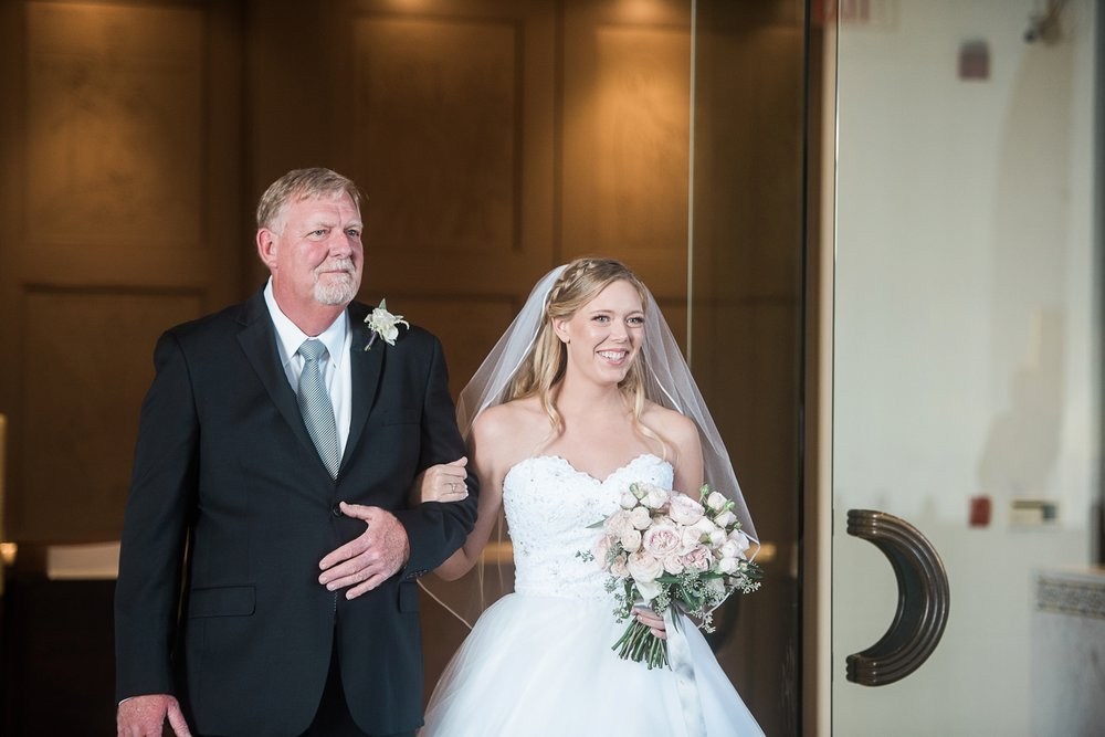 Picturesque Franciscan Gardens Wedding Bride and Dad