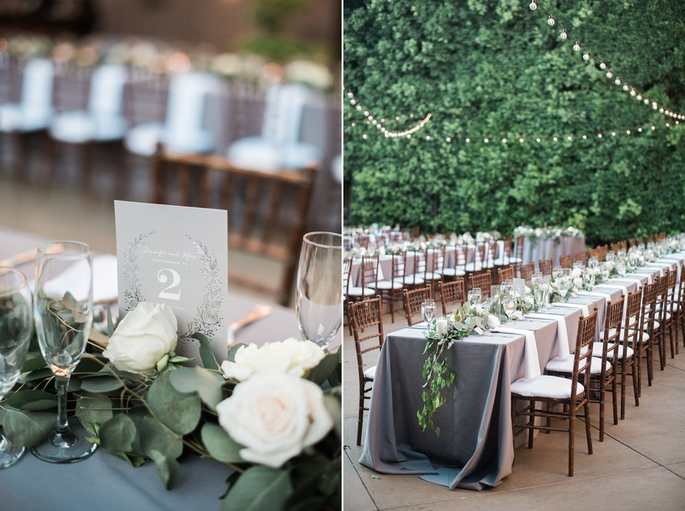 Picturesque Franciscan Gardens Wedding Table Setting
