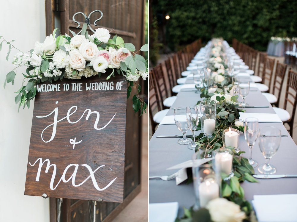 Picturesque Franciscan Gardens Wedding Decor