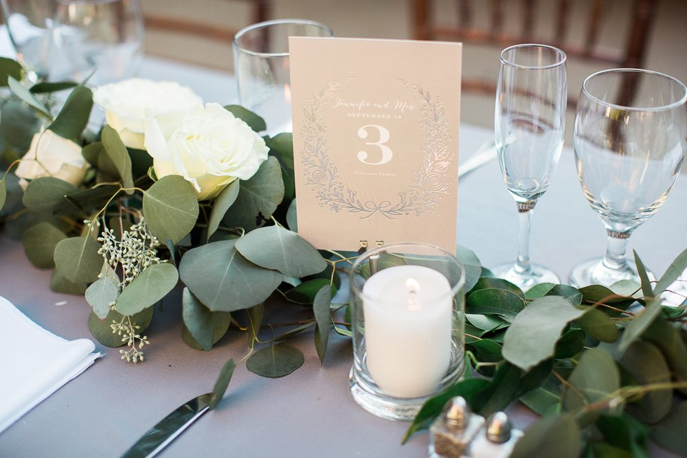 Picturesque Franciscan Gardens Wedding Placecard