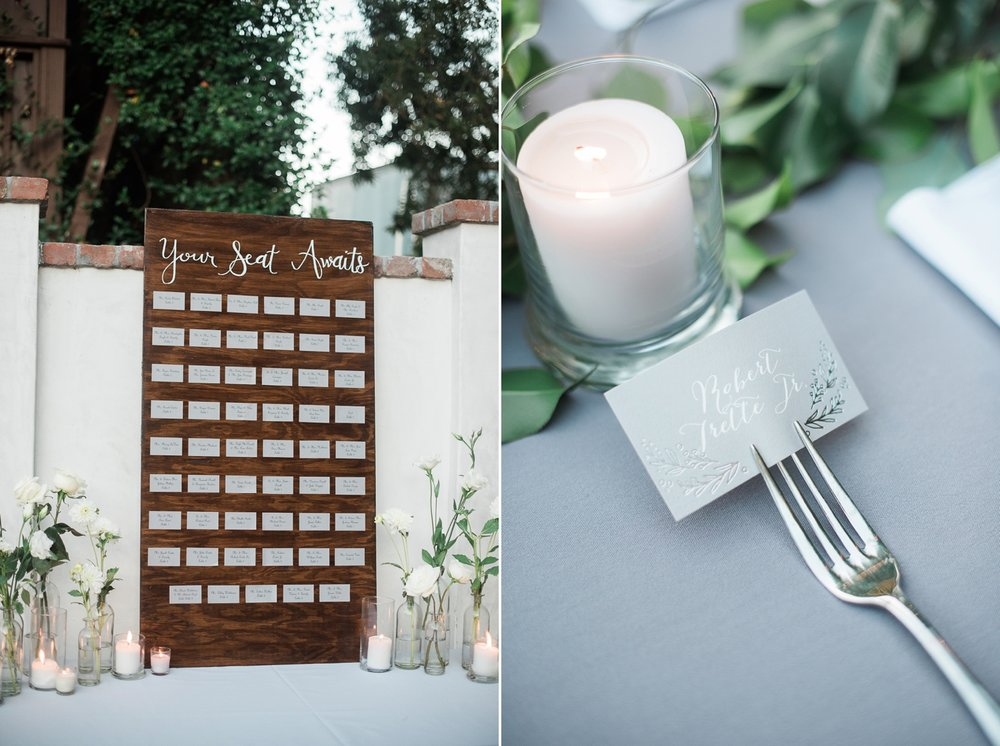 Picturesque Franciscan Gardens Wedding Reception Details
