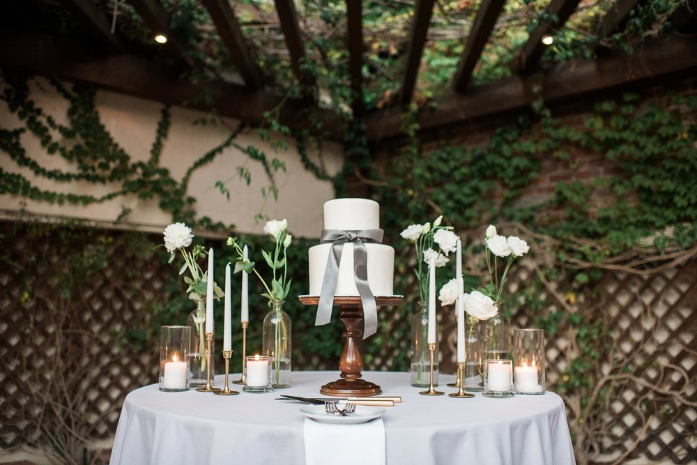 Picturesque Franciscan Gardens Wedding Cake