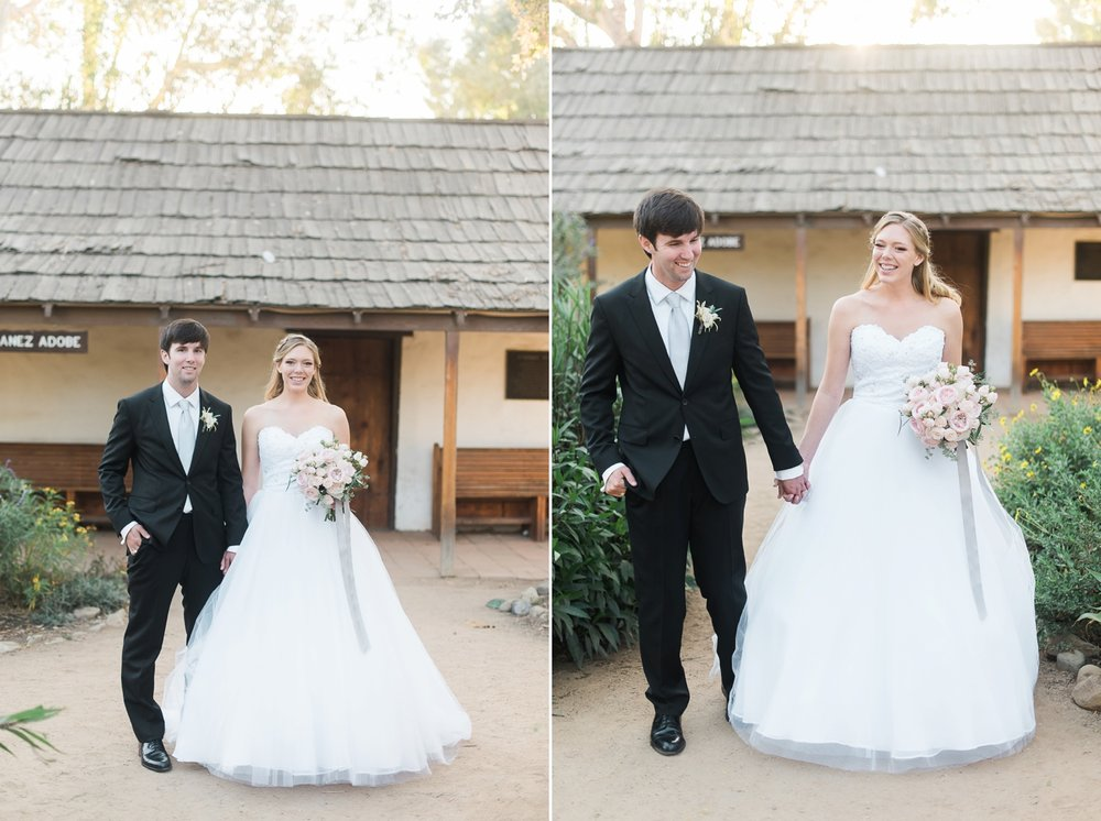 Picturesque Franciscan Gardens Wedding Bride and Groom