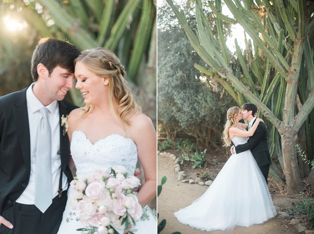 Picturesque Franciscan Gardens Wedding Kiss