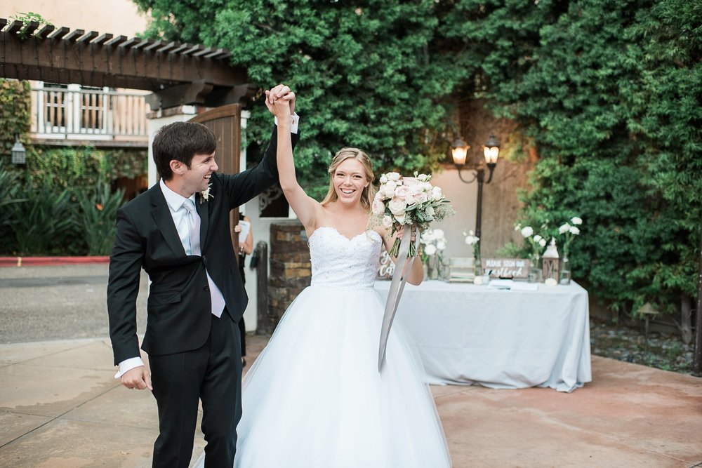 Picturesque Franciscan Gardens Wedding Announcing