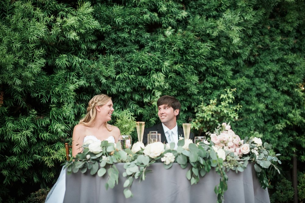 Picturesque Franciscan Gardens Wedding Head Table