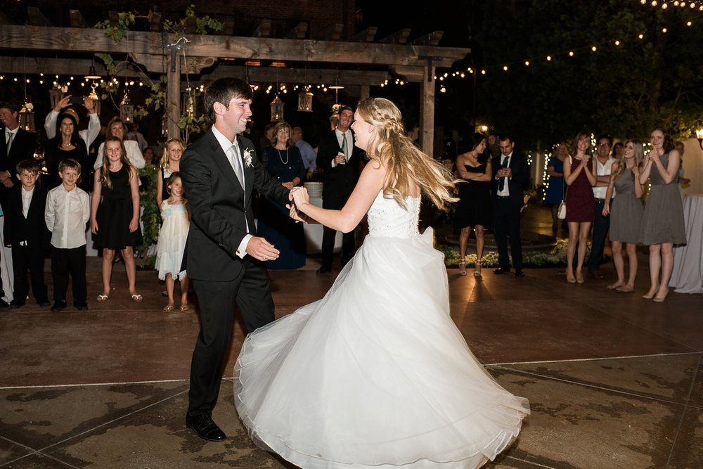 Picturesque Franciscan Gardens Wedding First Dance
