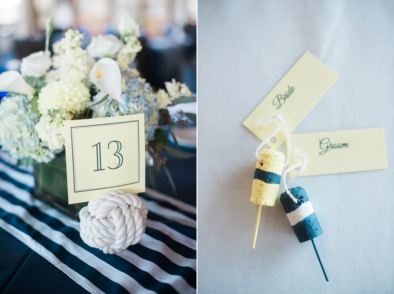 Long Beach Yacht Club Wedding Table Details