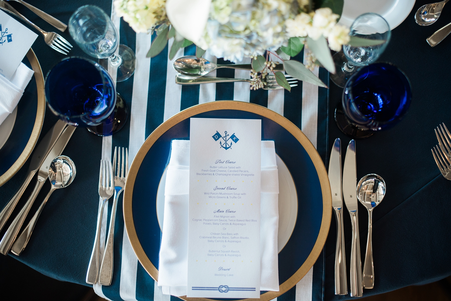 Long Beach Yacht Club Wedding Tablescape