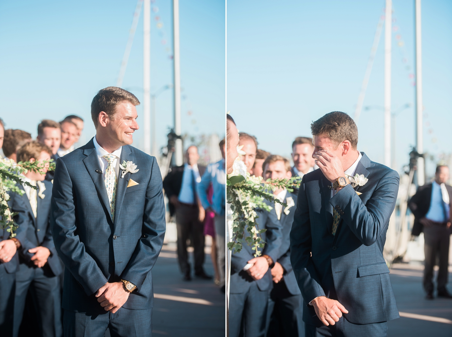 Long Beach Yacht Club Wedding Groom
