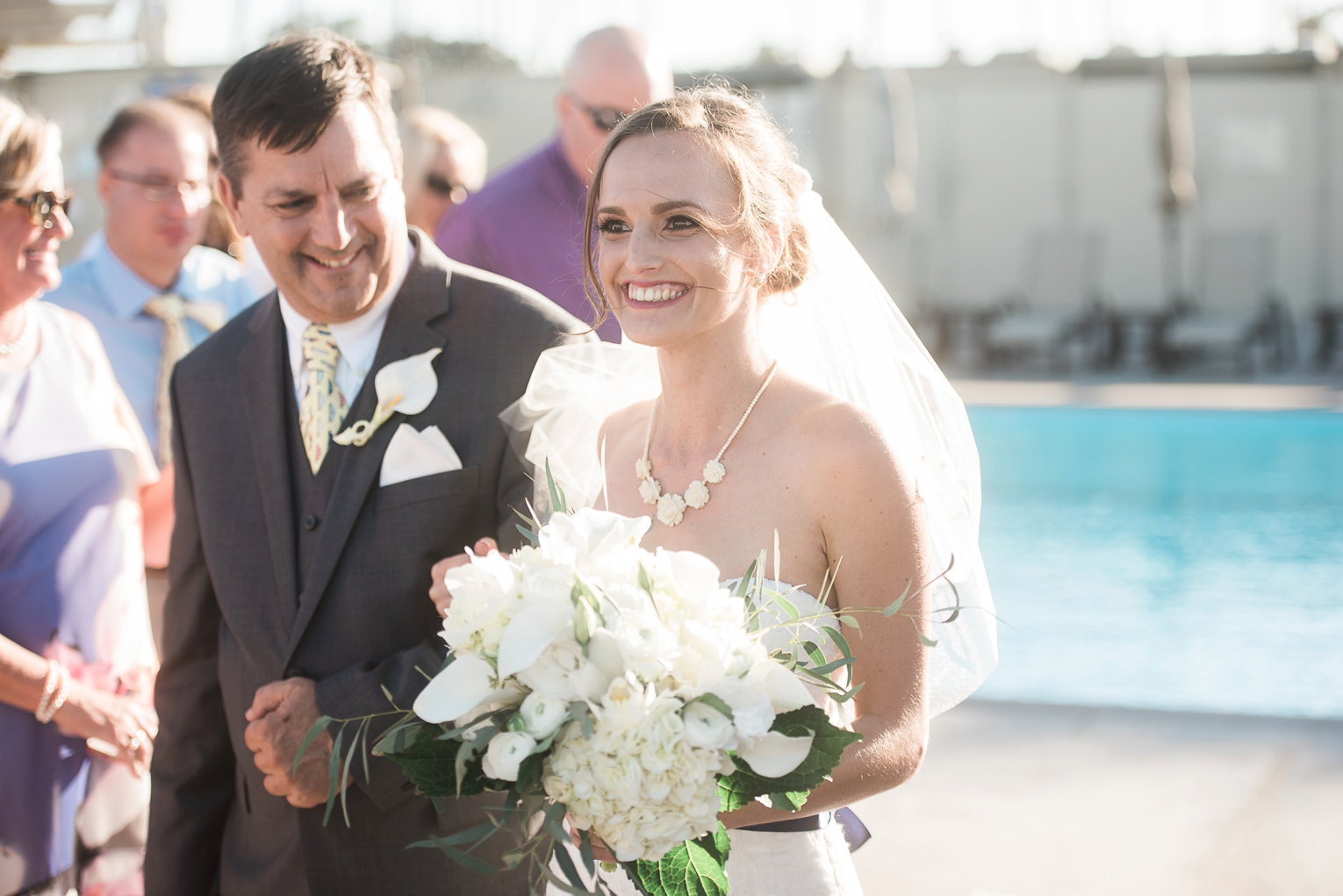 Long Beach Yacht Club Wedding Dad and Daughter