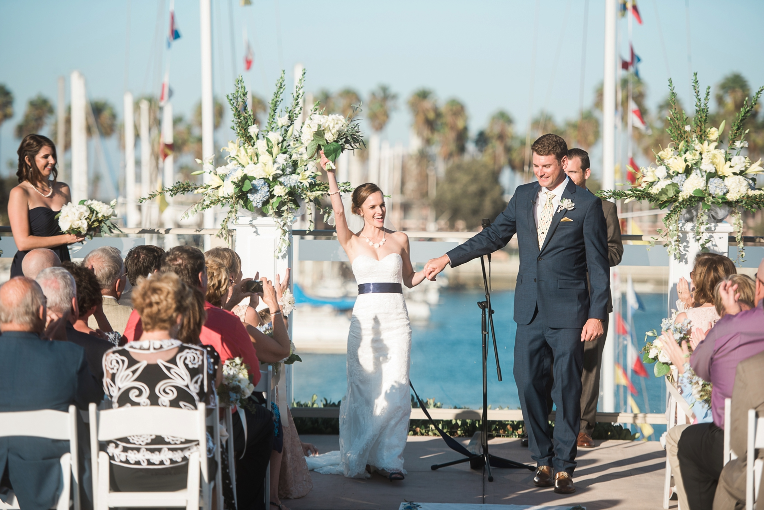 Long Beach Yacht Club Wedding Happy
