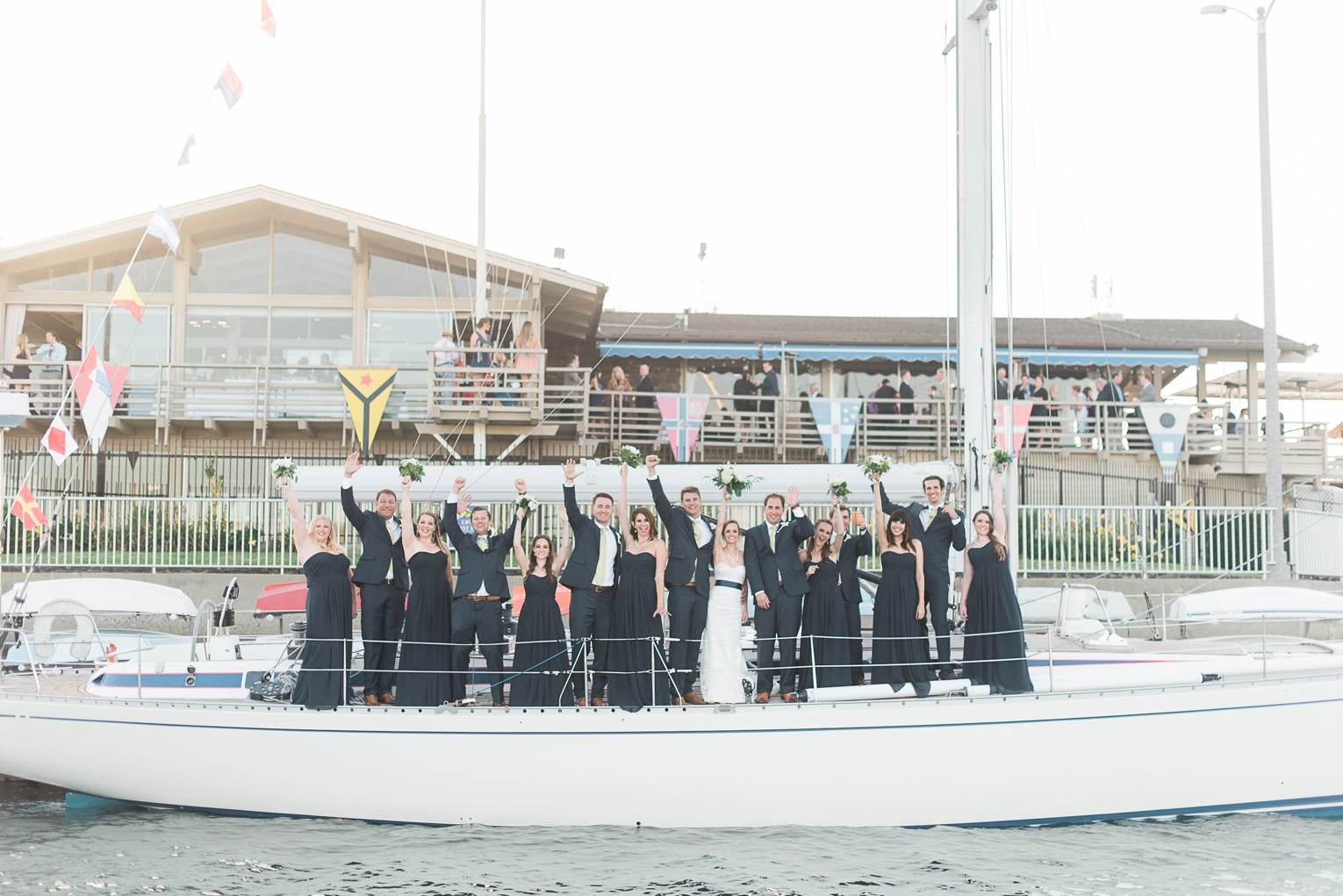 Long Beach Yacht Club Wedding Boat