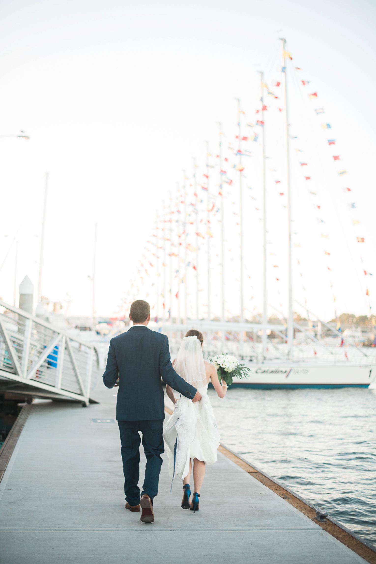 Long Beach Yacht Club Wedding Sailing