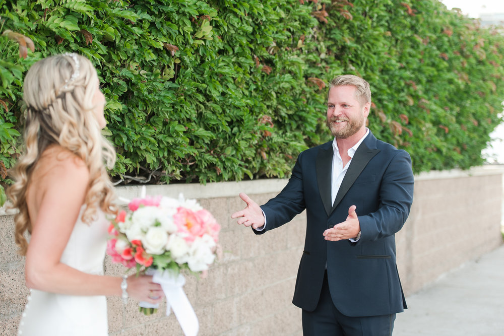 Dana Point Harbor Wedding First Look