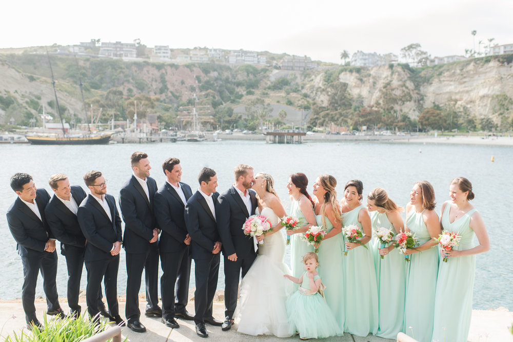 Dana Point Harbor Wedding Bridal Party