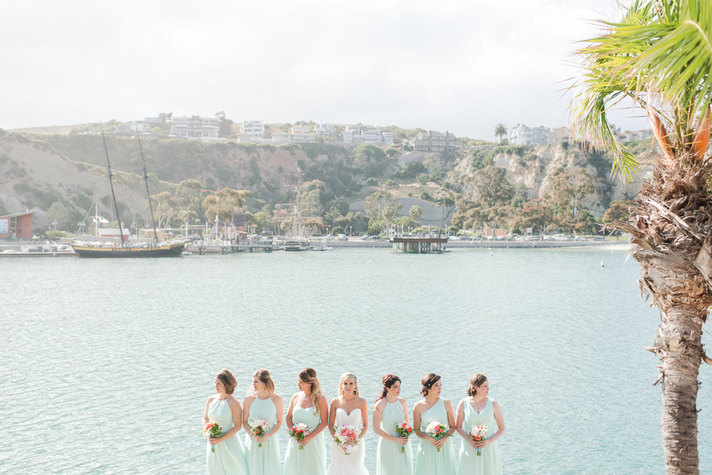 Dana Point Harbor Wedding Bridesmaids