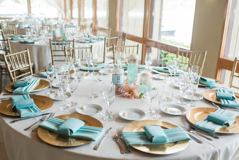 Dana Point Harbor Wedding Tablescape