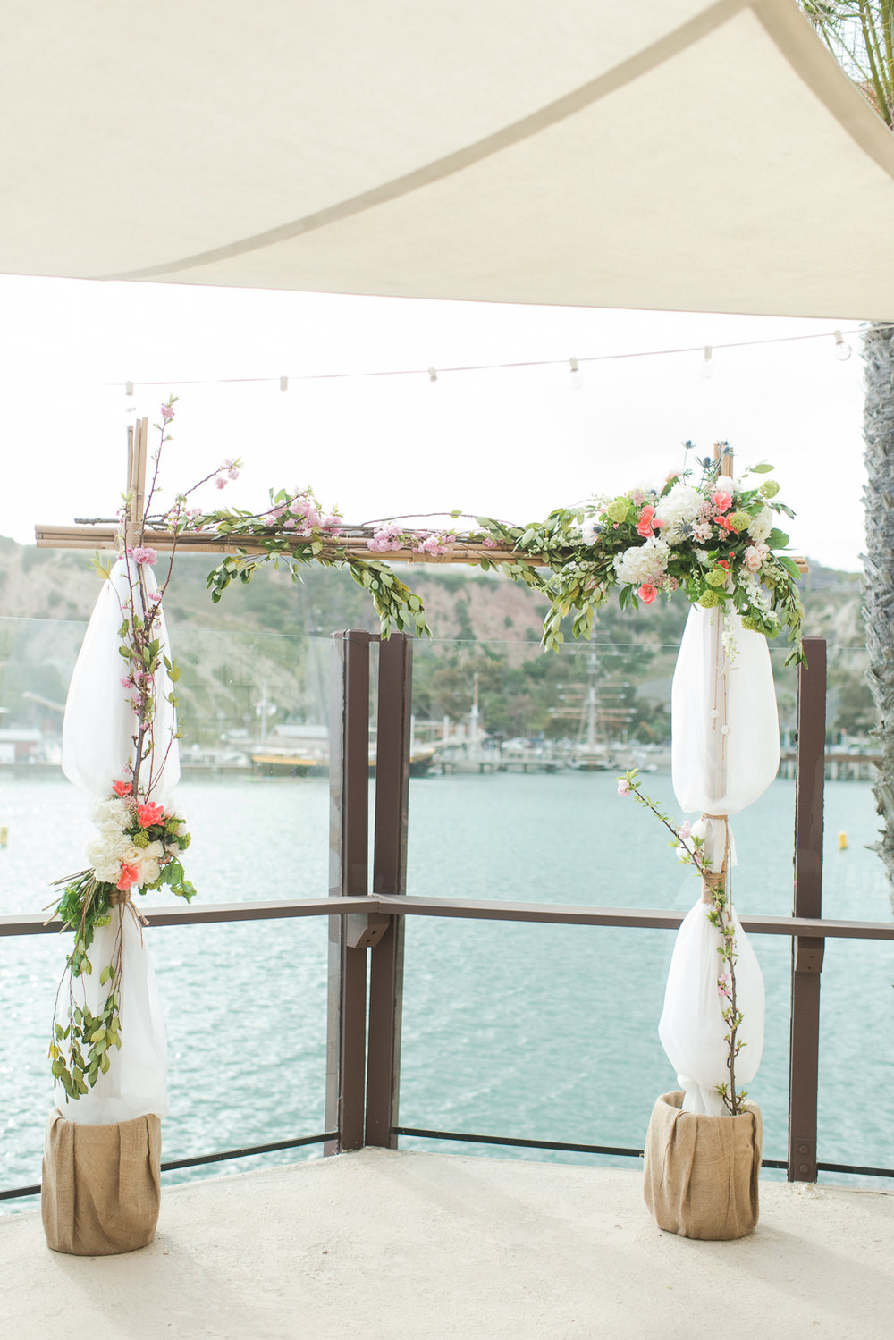 Dana Point Harbor Wedding Floral Arbor
