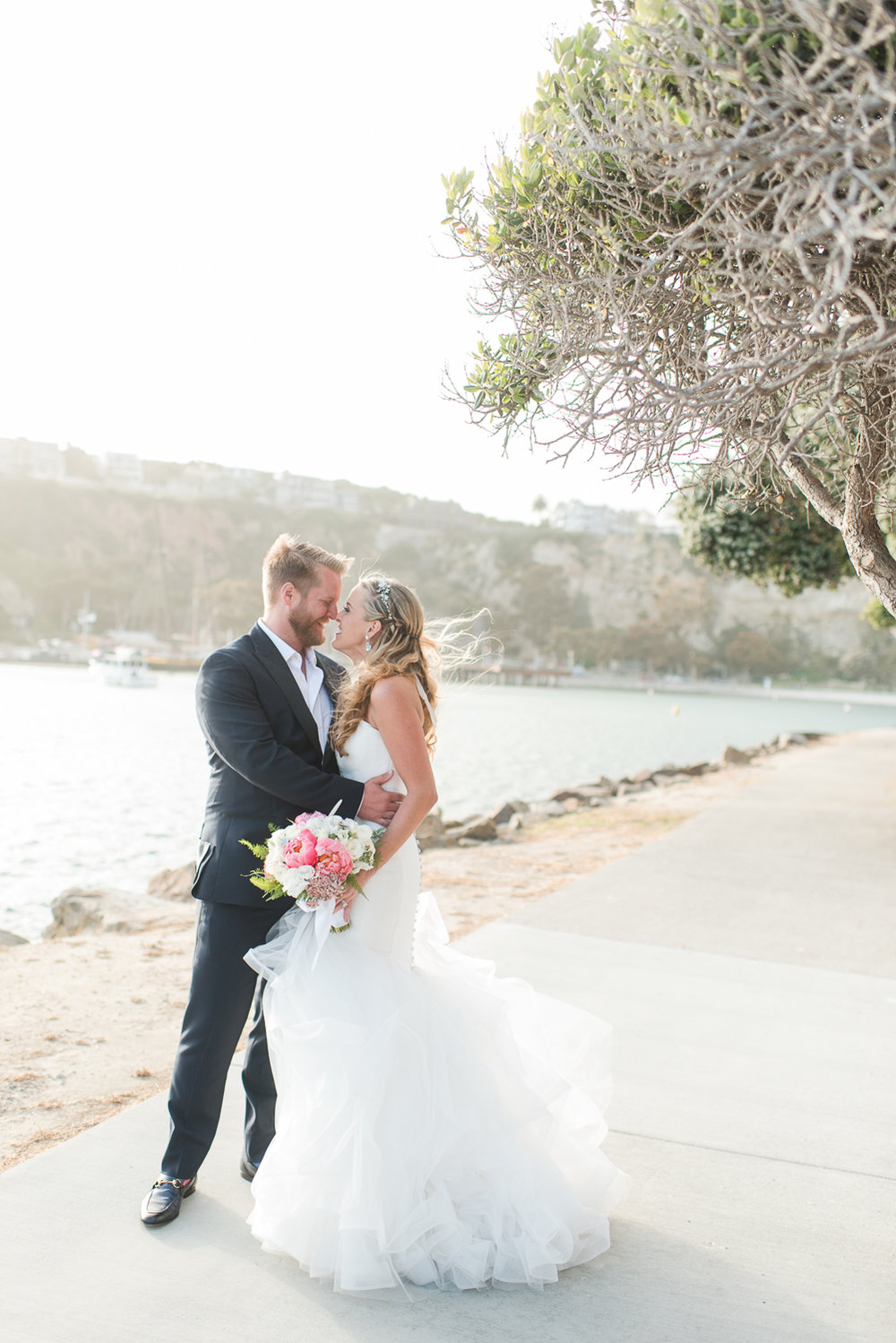 Dana Point Harbor Wedding Bride and Groom