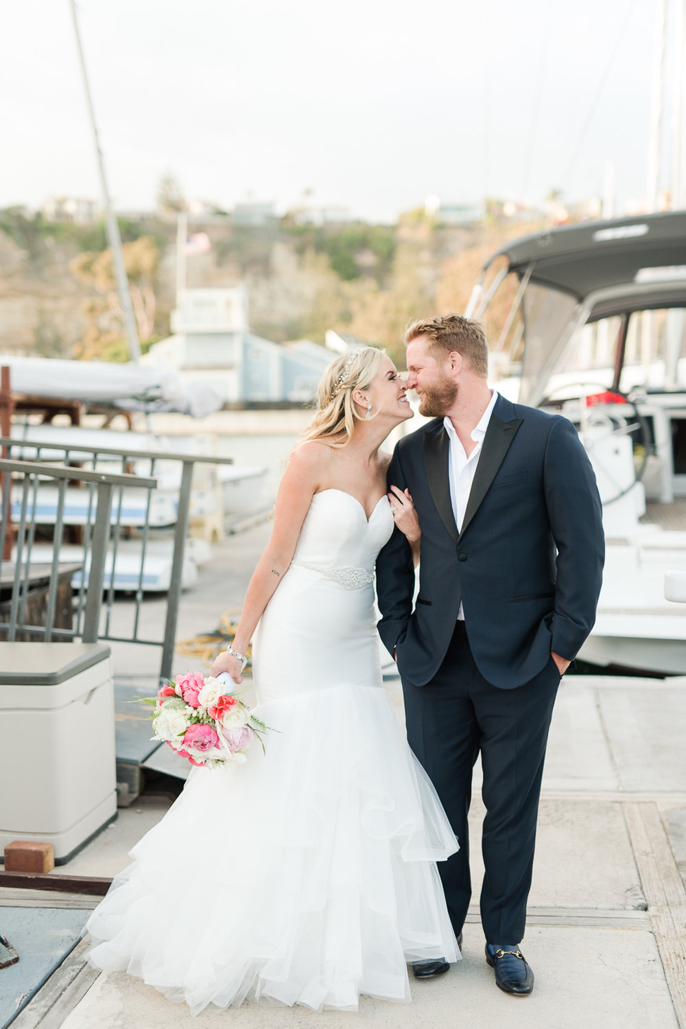 Dana Point Harbor Wedding Kiss