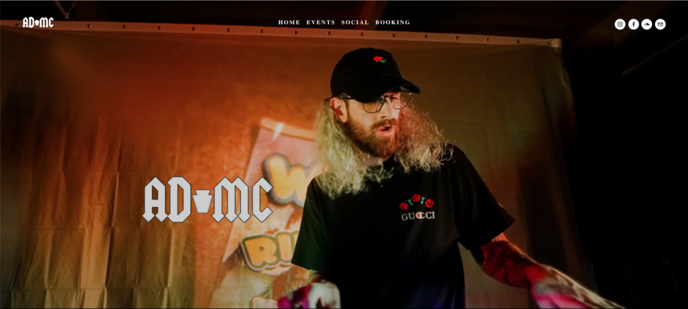 DJ Admc Website Design - As one of the top entertainers in Pittsburgh, ADMC wanted a digital footprint to promote his videos and upcoming events.