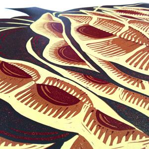 Bundleflower linocut - NessyPress.com