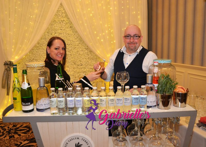 Stephen and Lisa busy at the Gin Mare Cocktail station