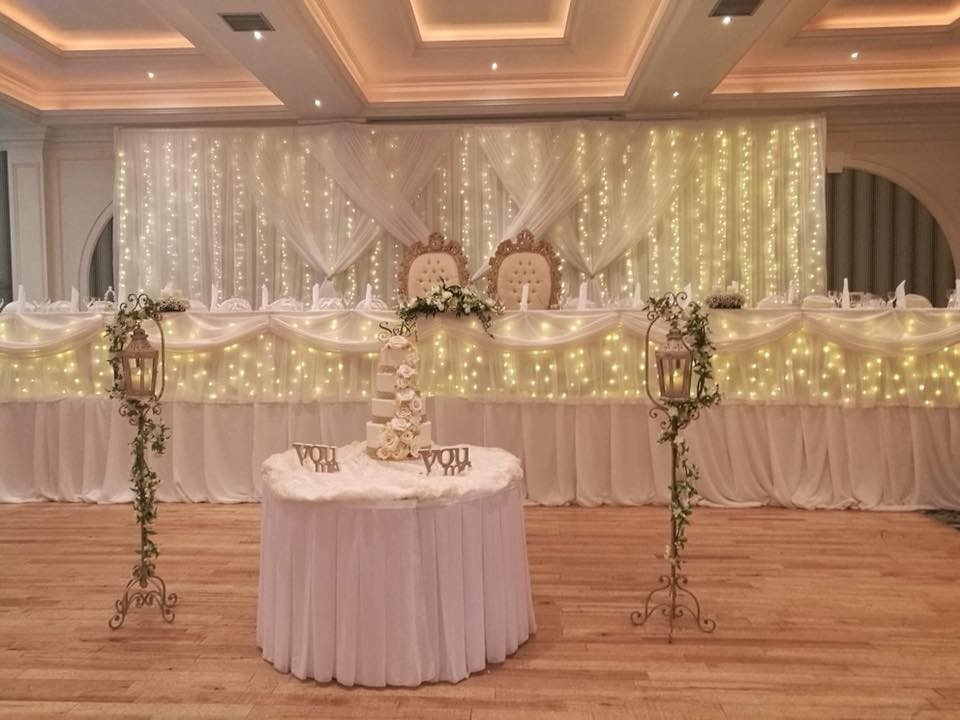 Wedding Backdrop and skirt from Eventful