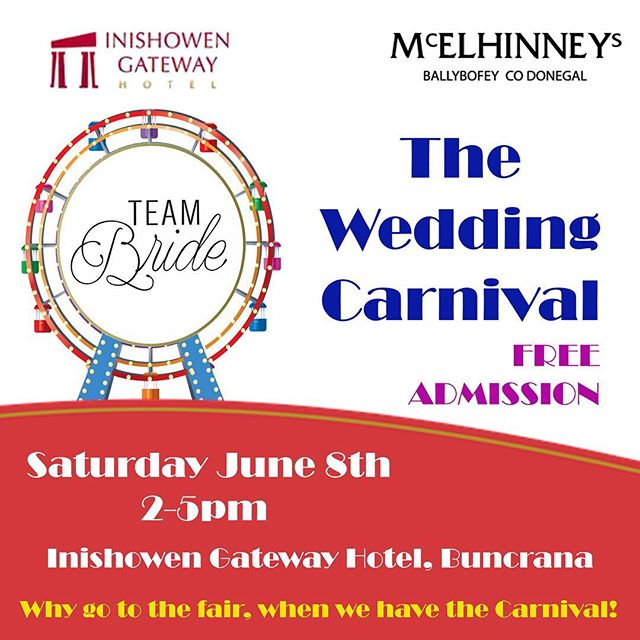 It's back! Delighted to bring The Wedding Carnival back to the @inishowengateway this June along with @mcelhinneys ❤️ We are promising a full filled day of Weddingness!  #weddingcarnival #teambrideevents #donegalwedding #donegalbride