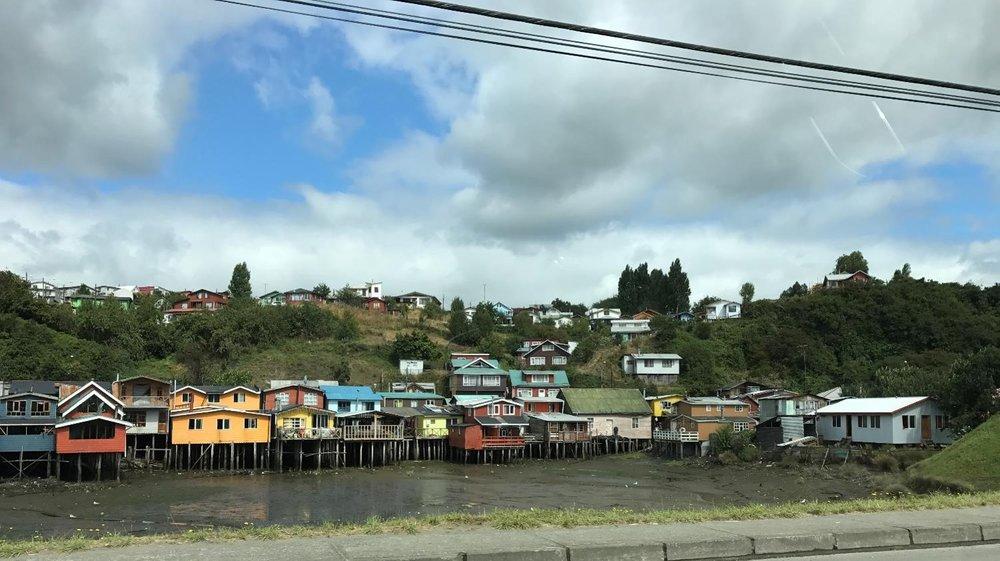 Chiloen homes along the waterways