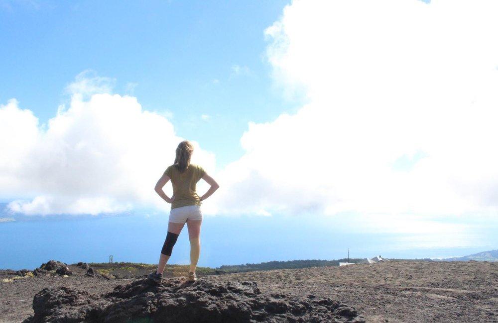 Triumphantly trekking Osorno