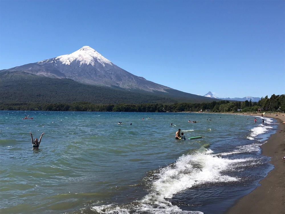 Swimming in Lake Llanquihué
