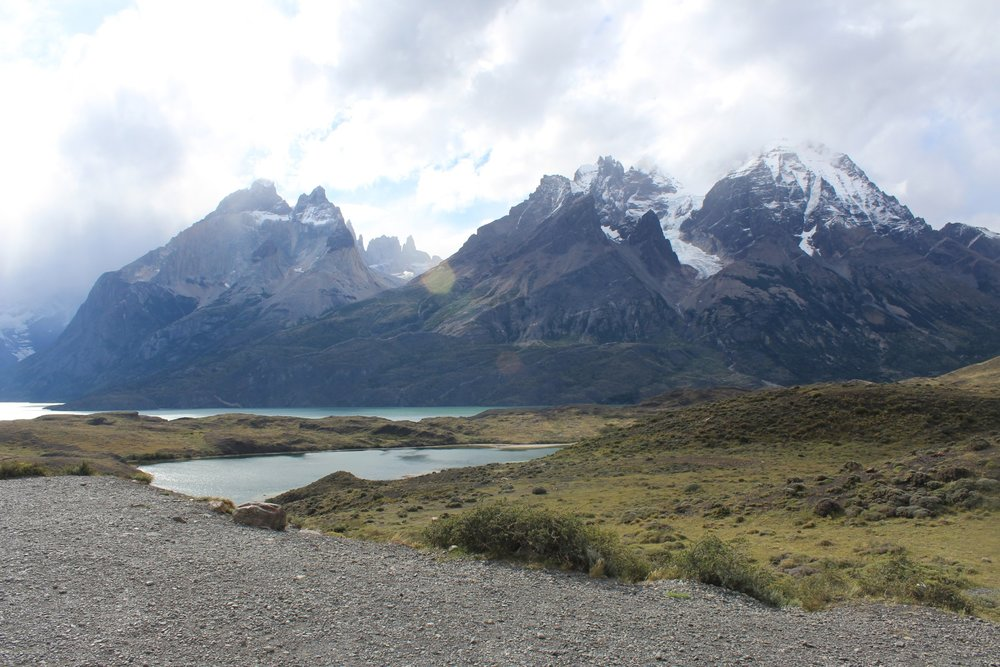 A view of the Cuernos from the road