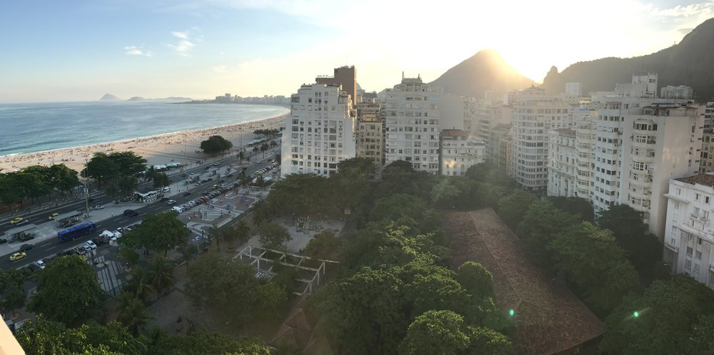 Copacabana Beach, from our apartment view