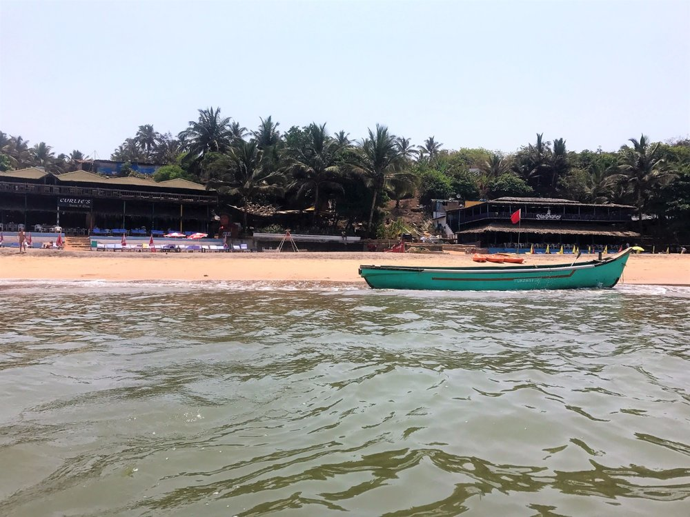 Anjuna Beach from the Water