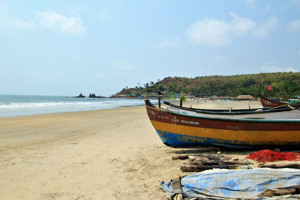 Boats on Arambol Beach