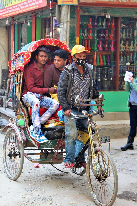 Cycle rickshaw, Kathmandu streets