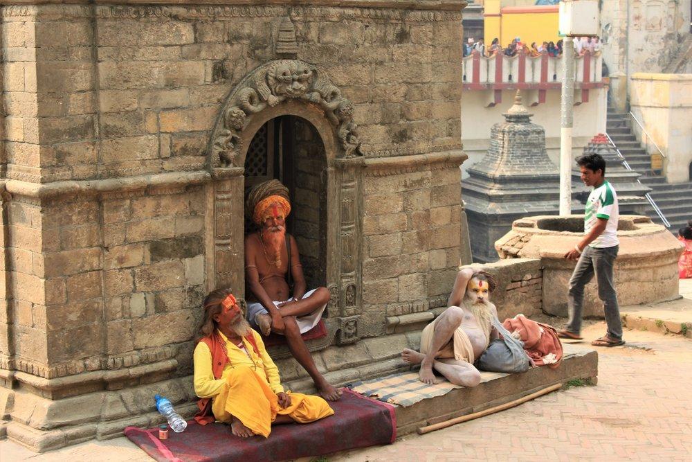 Painted Men at Pashupatinath